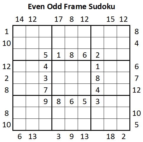 Even Odd Frame Sudoku (Daily Sudoku League #10)