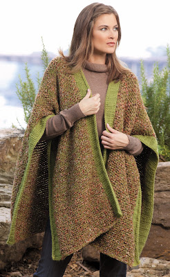 Knitting Pattern For Beginner Wrap, Stole, Shawl, or Ruana