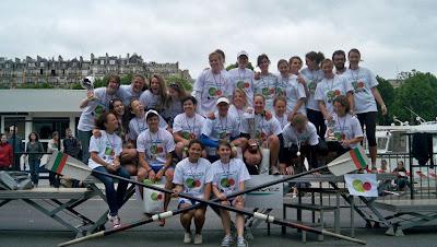 Régates en Seine 2012 ESCP Europe Aviron_podium filles