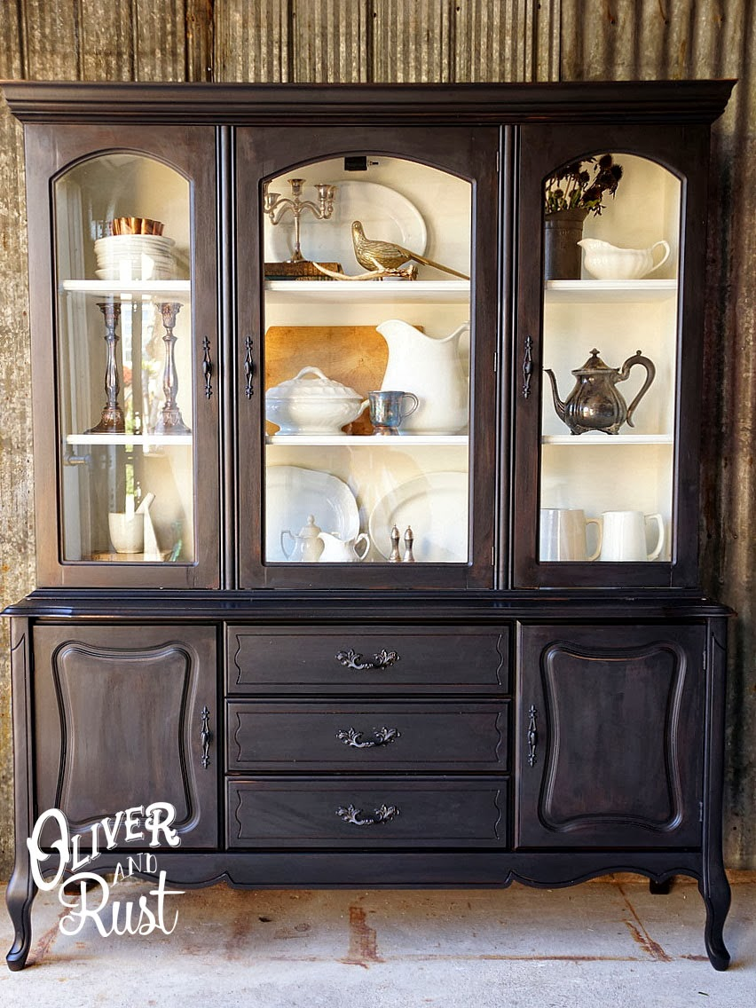 May days repurpose ideas for a china cabinet