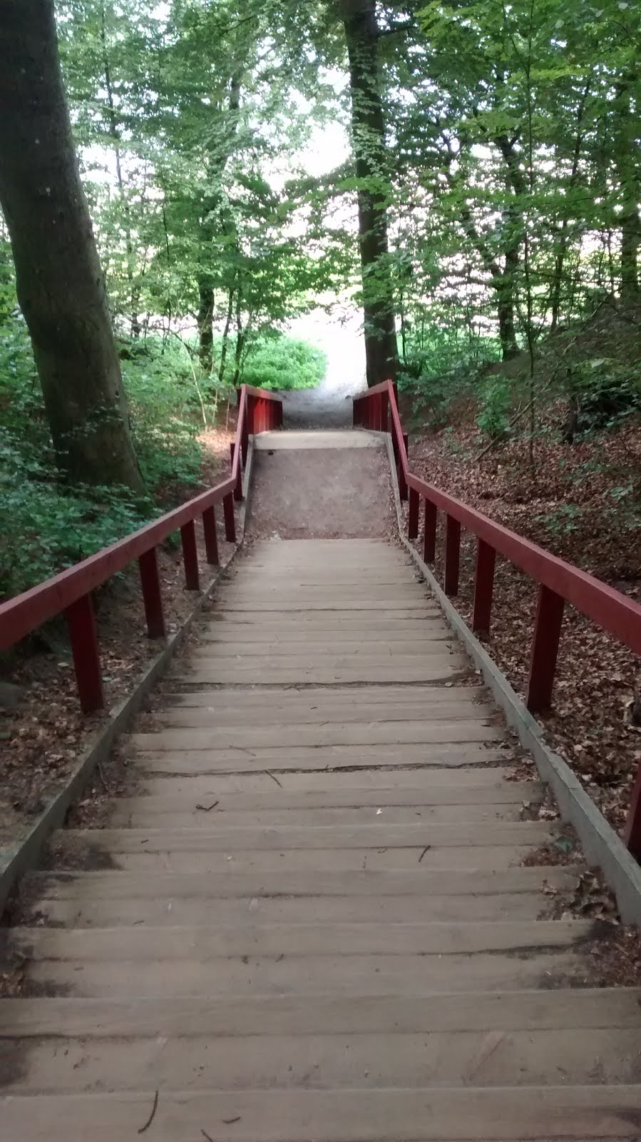 The stairs down to Ballehage Beach, Aarhus