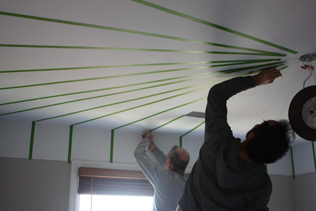 how to cut a ceiling with frog tape