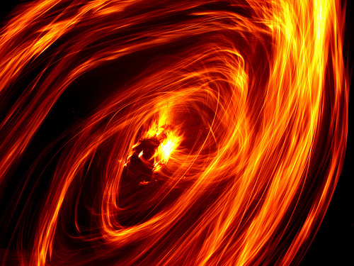 FIRE SWIRL | Art Wallpaper