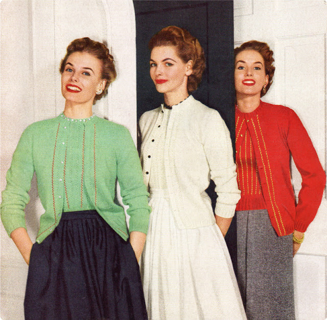 1950s sweater set sdvertisement Just Peachy, Darling