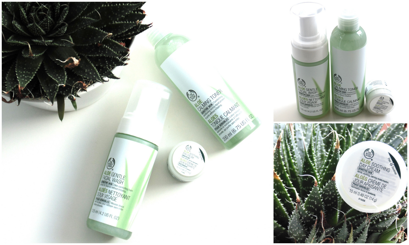 The Body Shop Aloe Skincare Range