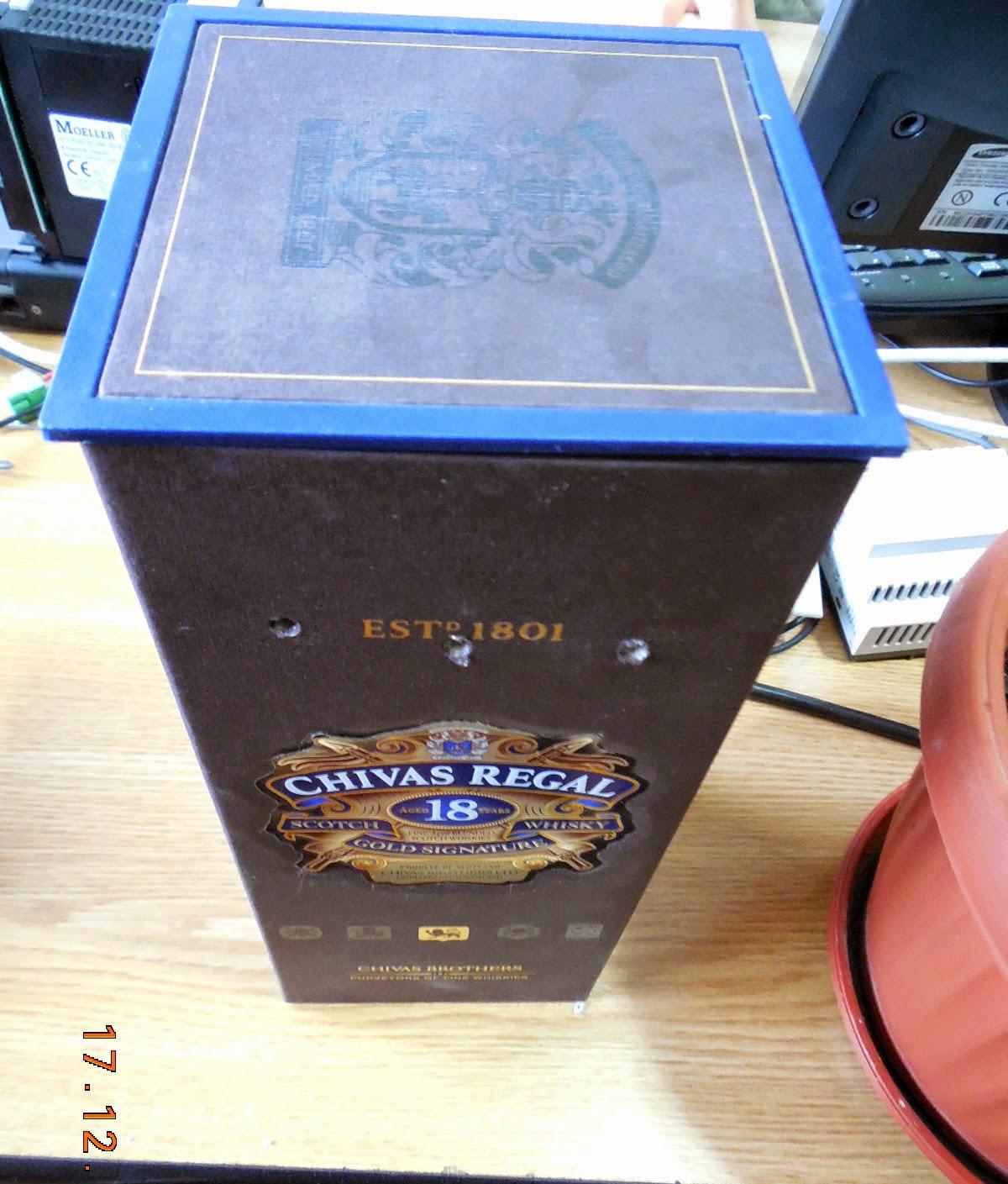 la cutie de Chivas Regal +18