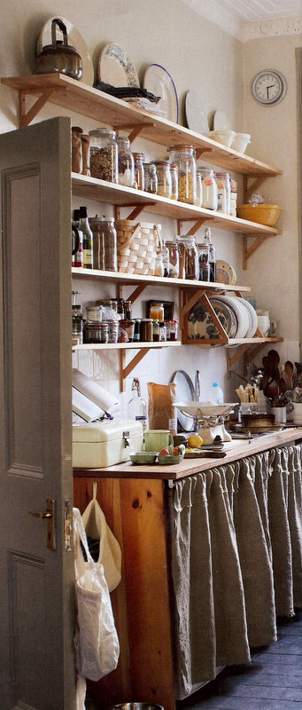 Of Course I Loved It. For Its Open Shelves That Are Delightfully Un Styled,  For The Linen Skirt Hanging From The Counter, For The Muted And Neutral  Color ...