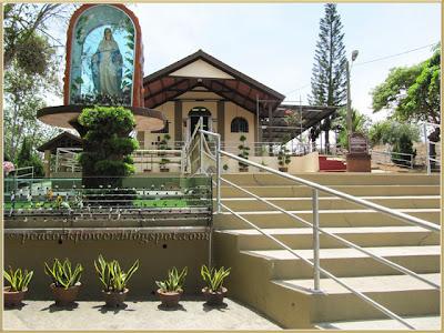 View of St. Mary's shrine and Chapel of Santa Cruz, Malim in Malacca
