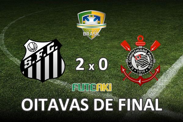 Veja o resumo da partida com os gols e os melhores momentos de Santos 2x0 Corinthians pelas oitavas de final da Copa do Brasil 2015.