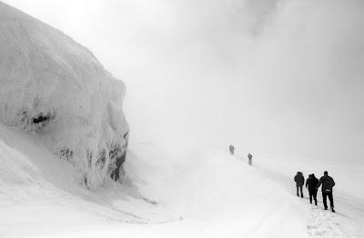 Eyjafjallajokull crater walk