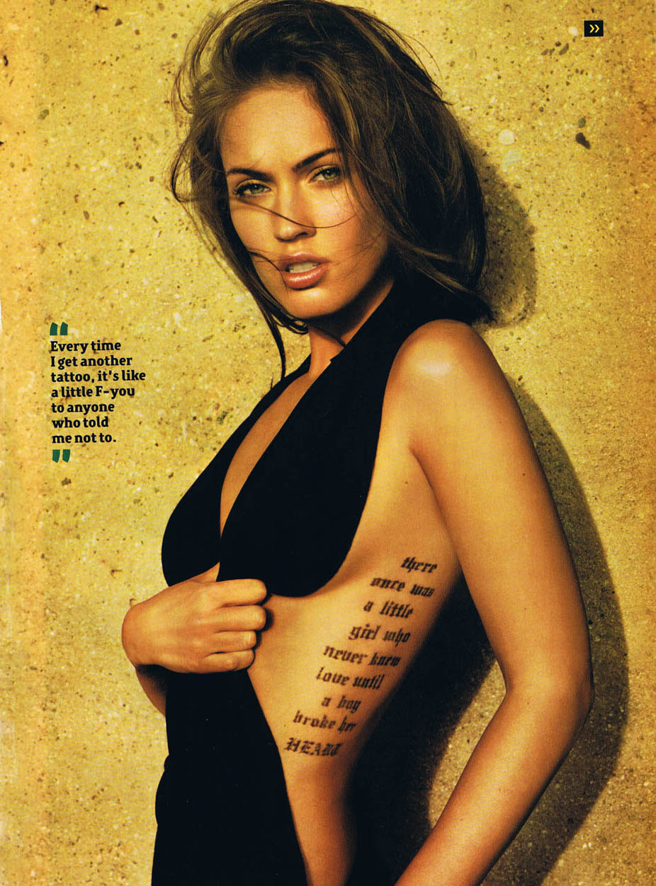 Wallpaper  several perfect megan fox tattoos design