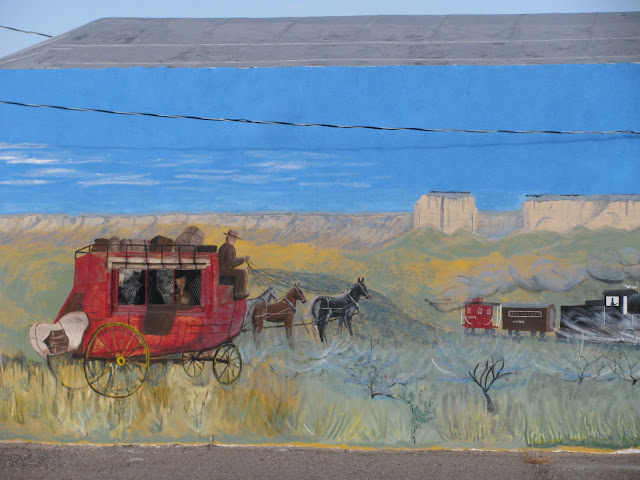 Detail of Chugwater Museum mural - Chugwater, Wyoming