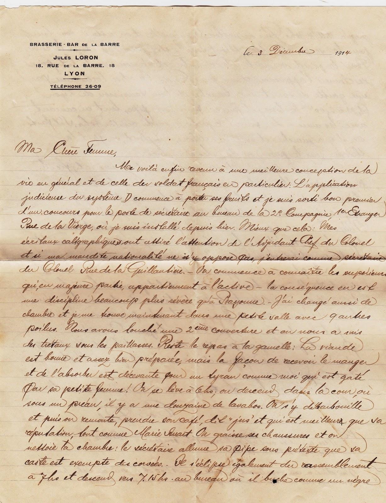 Lettres Du L 233 Gionnaire Paul Gusdorf 224 Son 233 Pouse Marthe