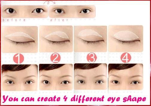 Как сделать азиатский глаз