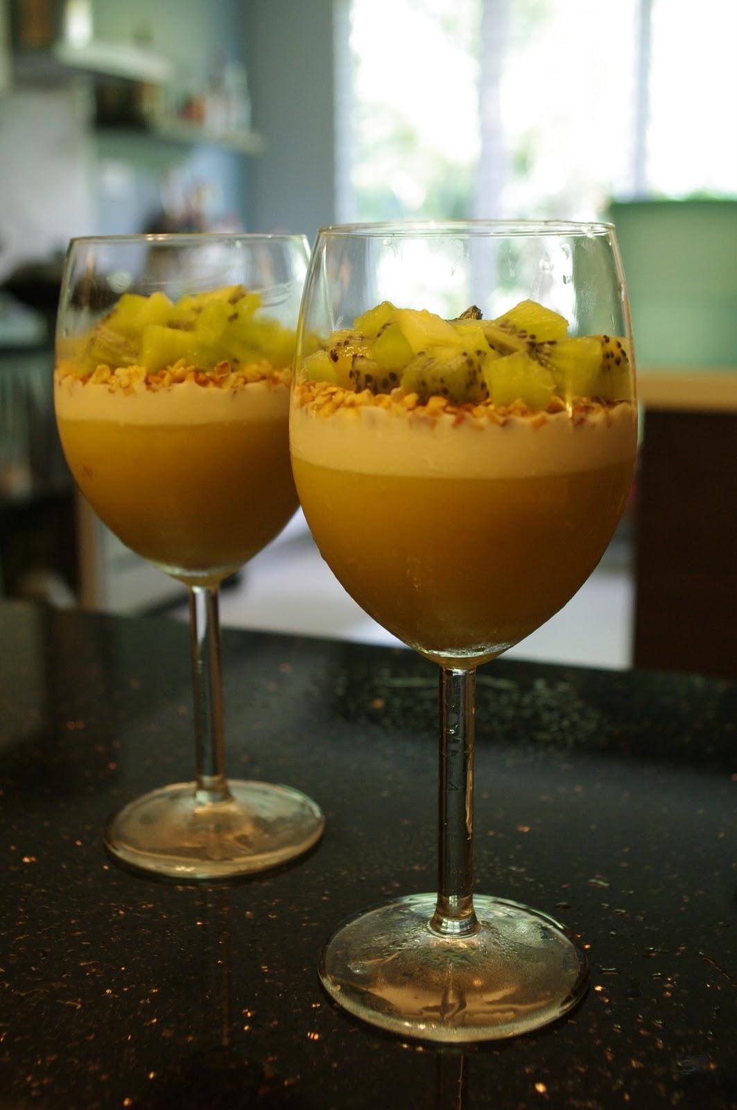 Top It Up With Yogurt, Nuts And Kiwi To Make It Into A Mango Parfait