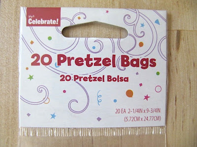 pretzel bag gift wrap idea