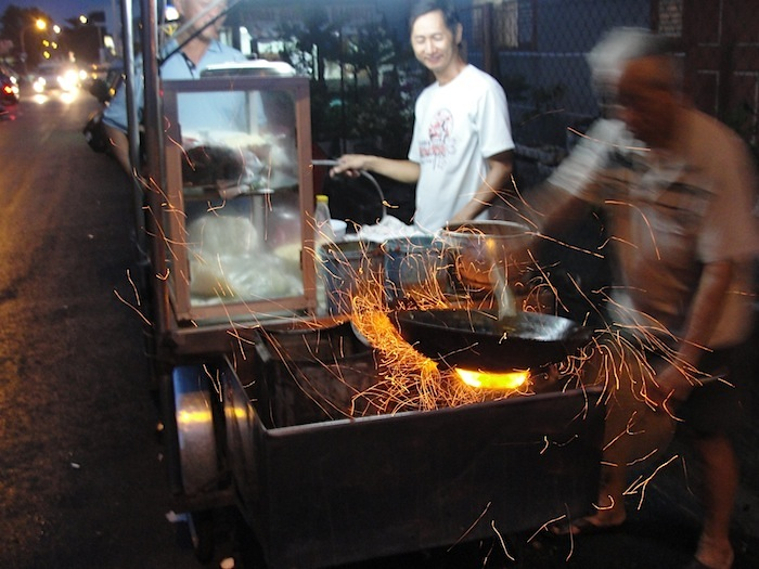 sparks off a wok at siam road char koay teow in penang