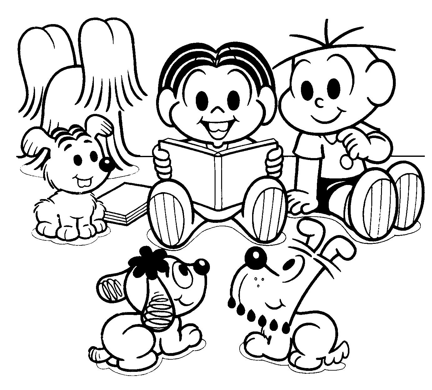 Desenhos - Dia do Livro Infantil para Colorir - Desenhos Para Colorir