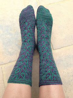 chaussettes-tricot-paon