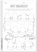 My family worksheet - Preschool and Elementary - Pipo