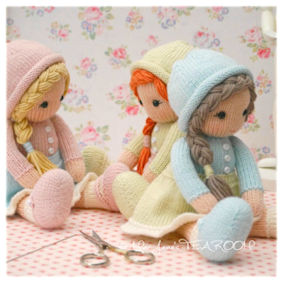 ♡  Little Yarn Dolls knitting pattern