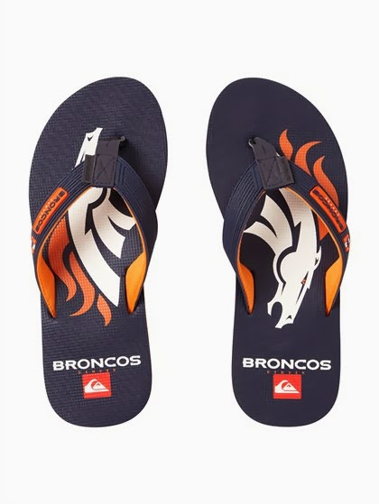 Denver Broncos NFL Quiksilver Sandals