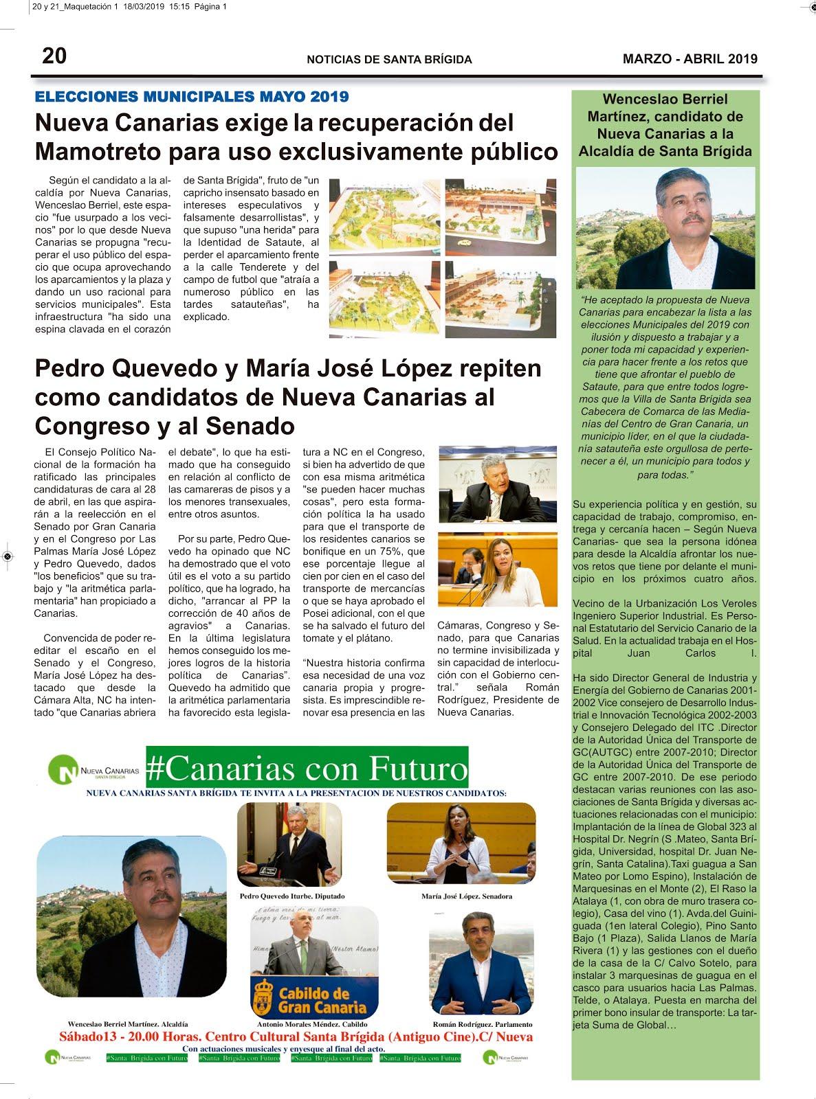 Noticias de Nueva Canarias Santa Brígida en Santa Brígida Noticias