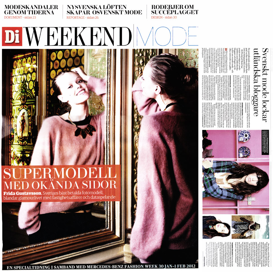 Di Weekend (Sweden) January 2012 - About Swedish Fashion