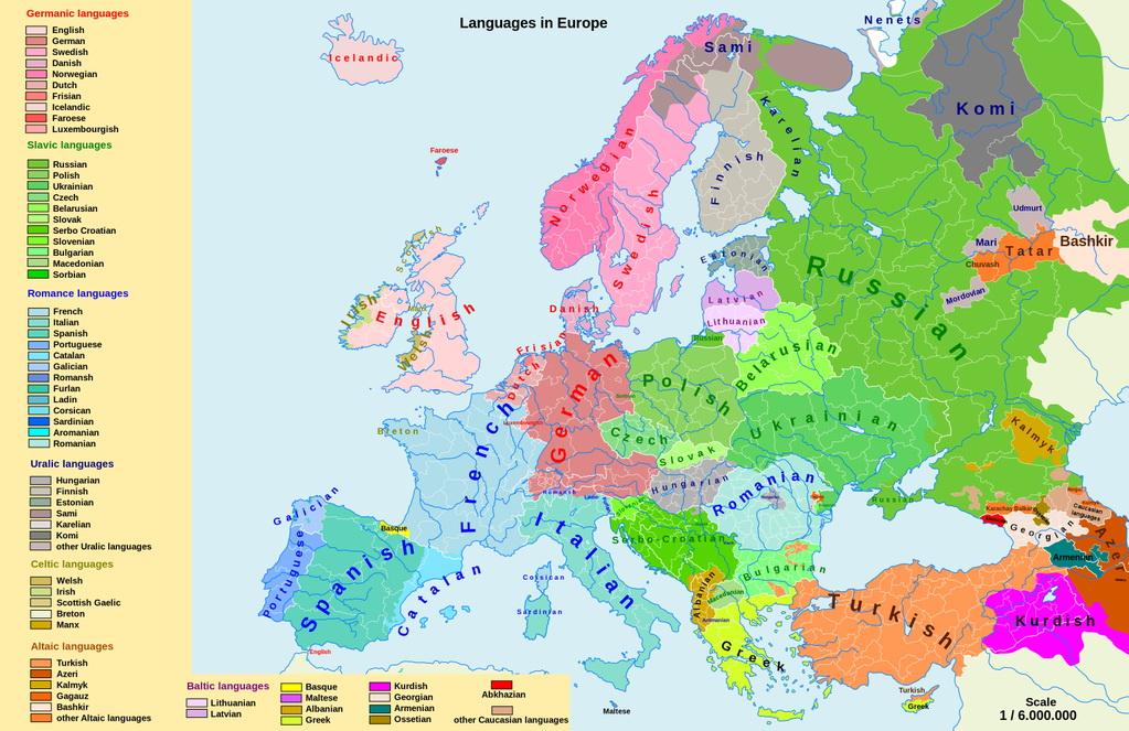 Map Of Europe By Language Vivid Maps - Welsh language map