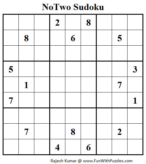 NoTwo Sudoku (Daily Sudoku League #113)
