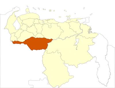 Mapa del estado Apure Venezuela