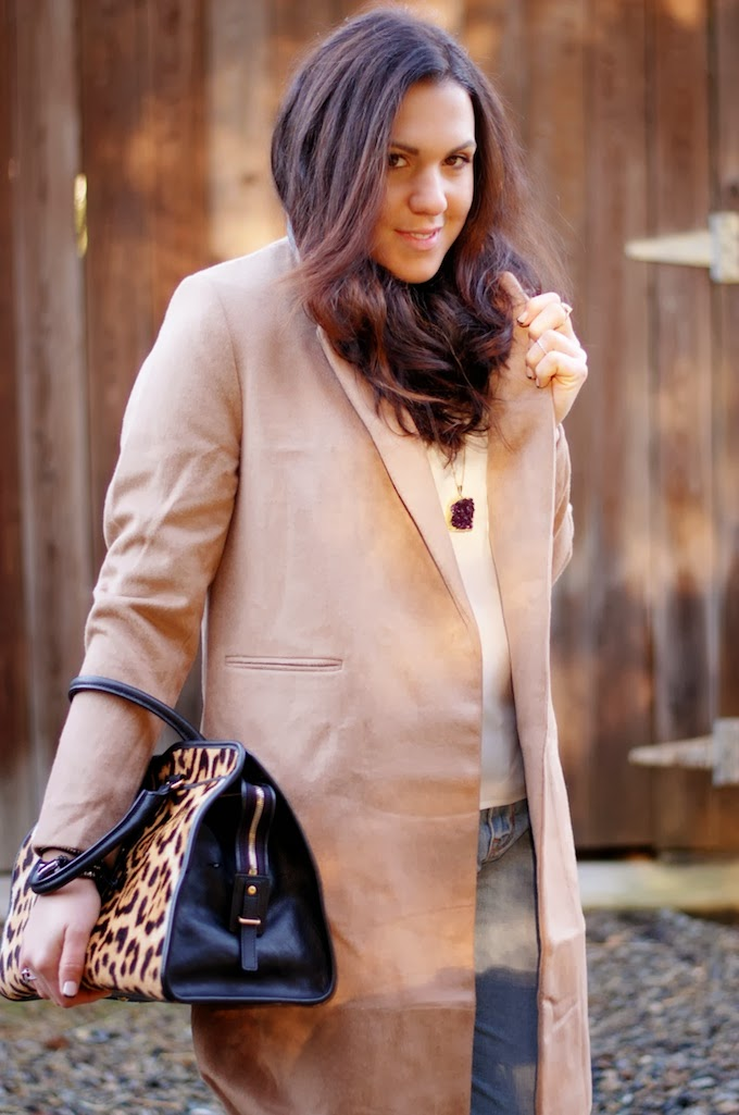 Camel wool coat from H&M