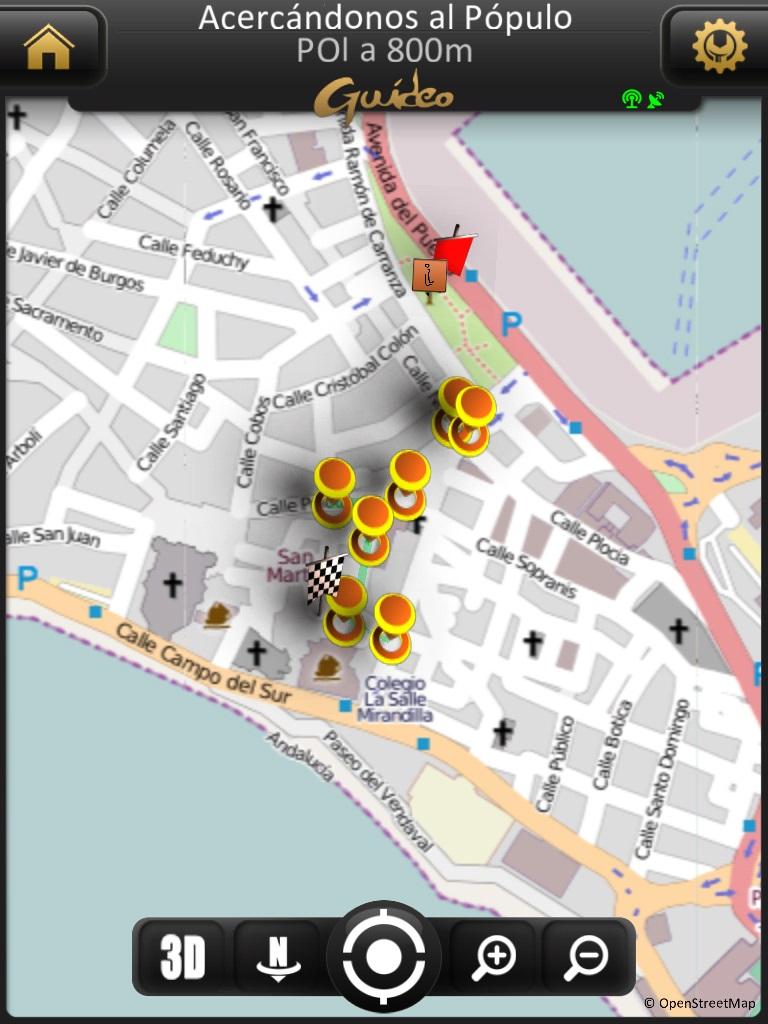 mapa GPS de la aplicación