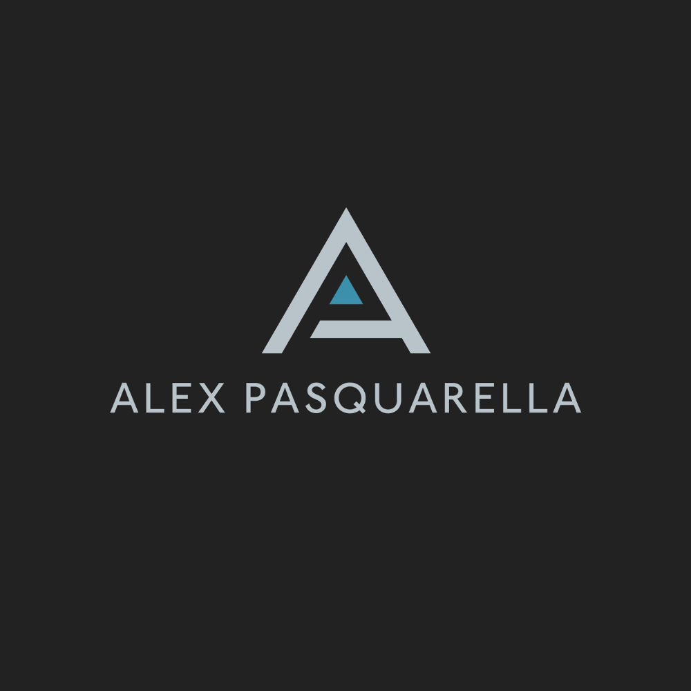 A personal logo for graphic designer and developer Alex Pasquarella
