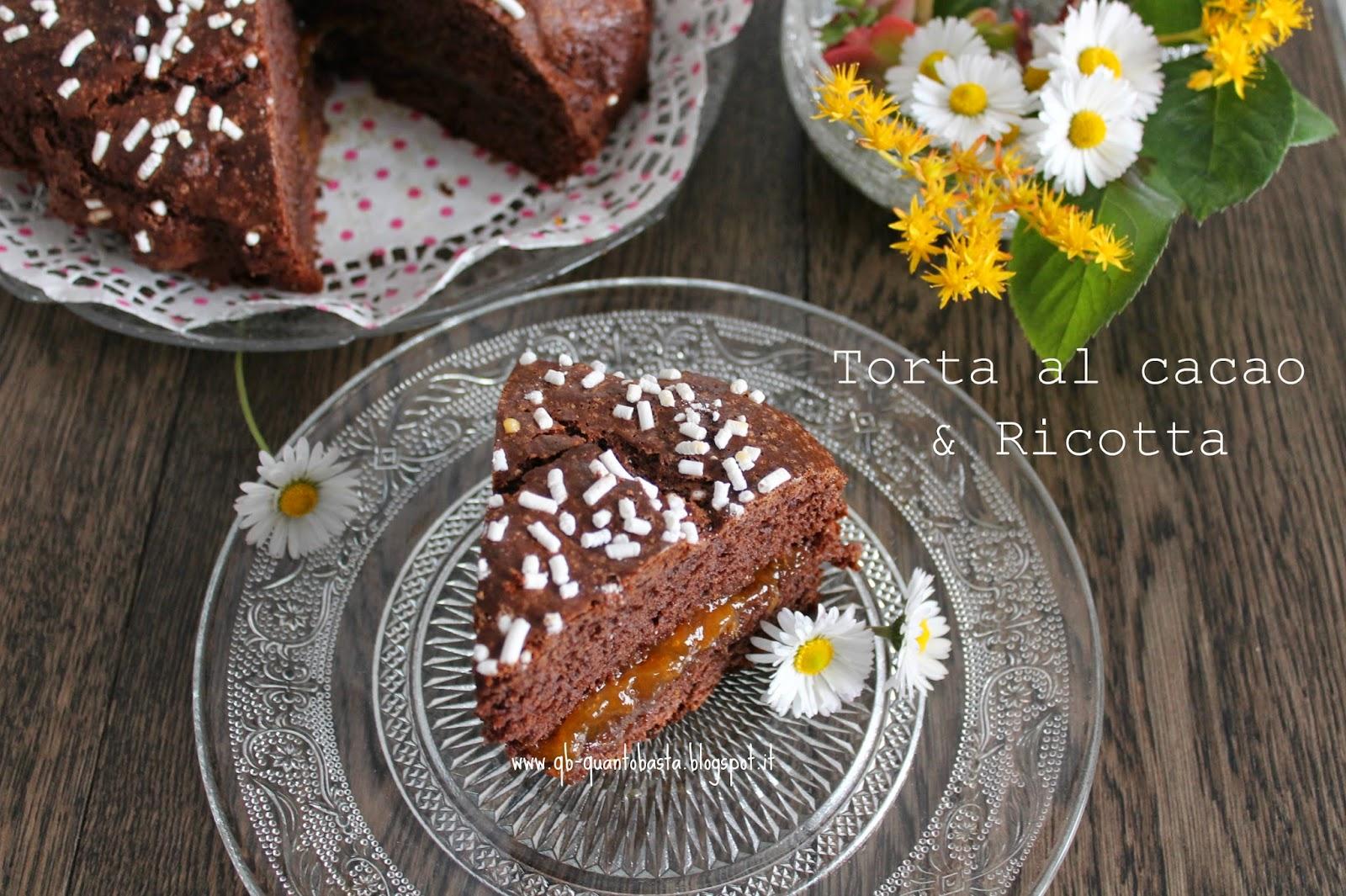 torta al cacao e ricotta...senza burro e senza olio e.. tanti auguri mamma!!!