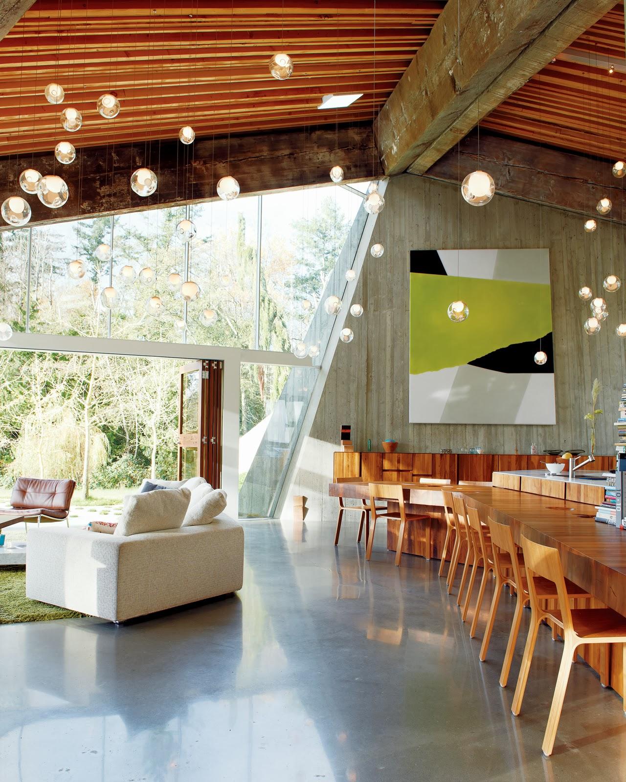 die wohngalerie aufregendes heim der kanadischen leuchten firma bocci. Black Bedroom Furniture Sets. Home Design Ideas