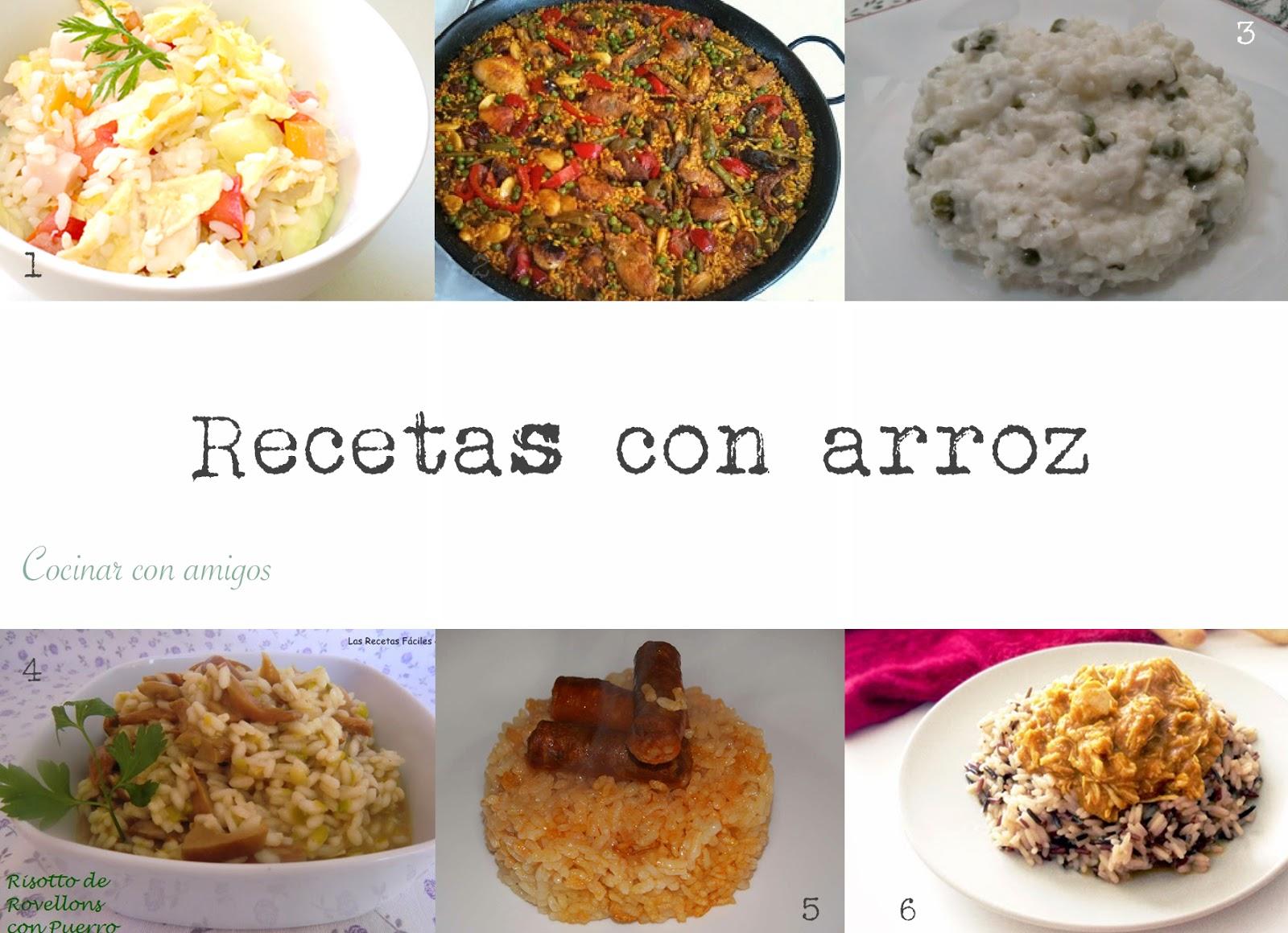 Beneficios y recetas con arroz cocinar con amigos for Cocinar 6 tipos de arroz
