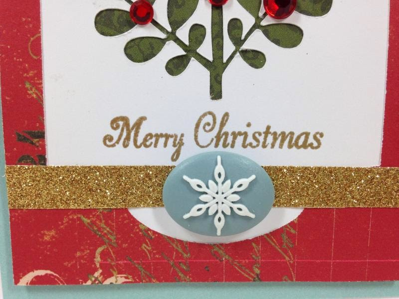 Close To My Heart Artfully Sent Cricut cartridge Christmas card closeup