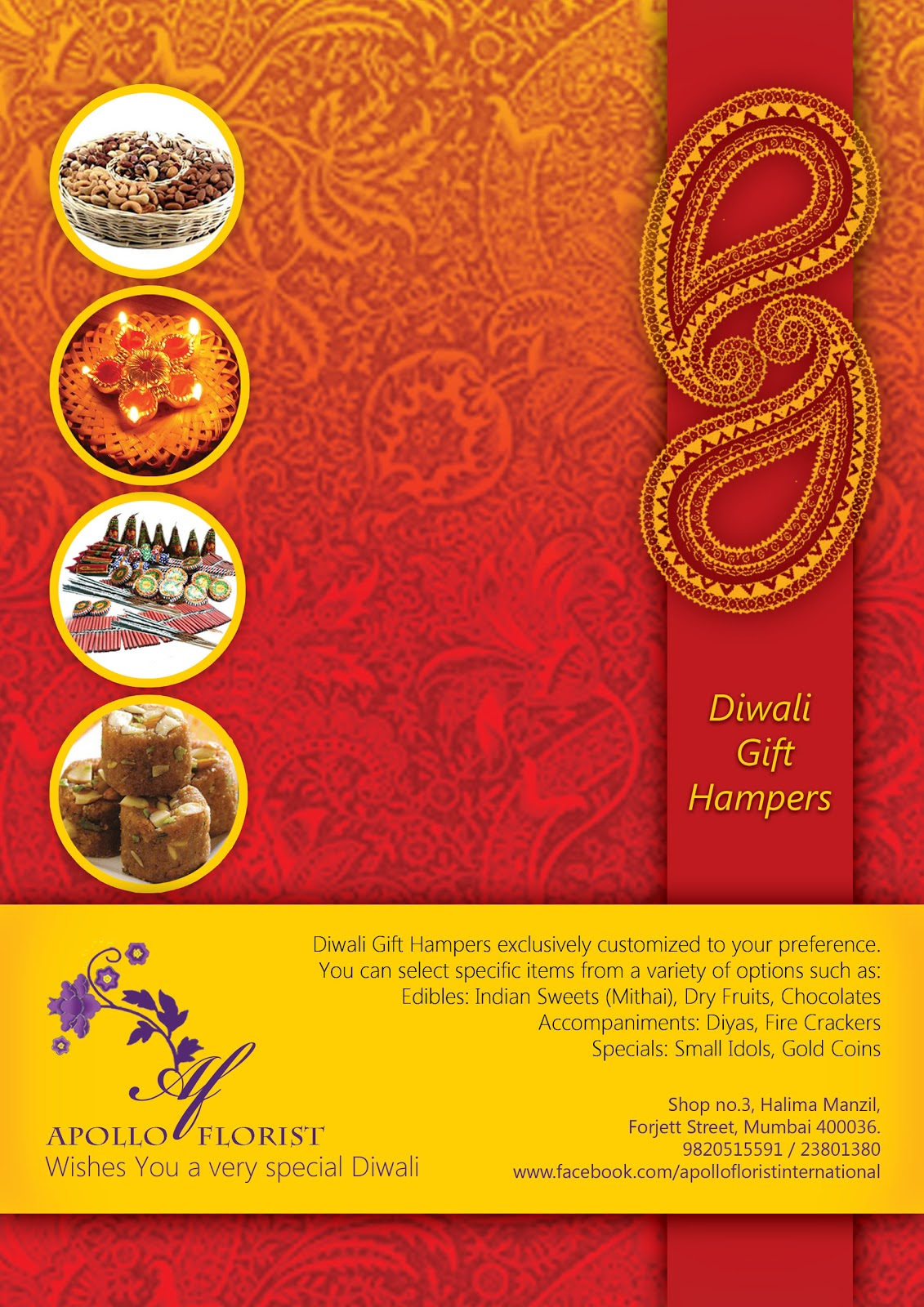 My Arena Diwali Flyer For Apollo Florist