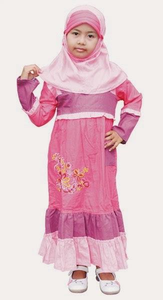 Model baju muslim modern anak perempuan minimalis