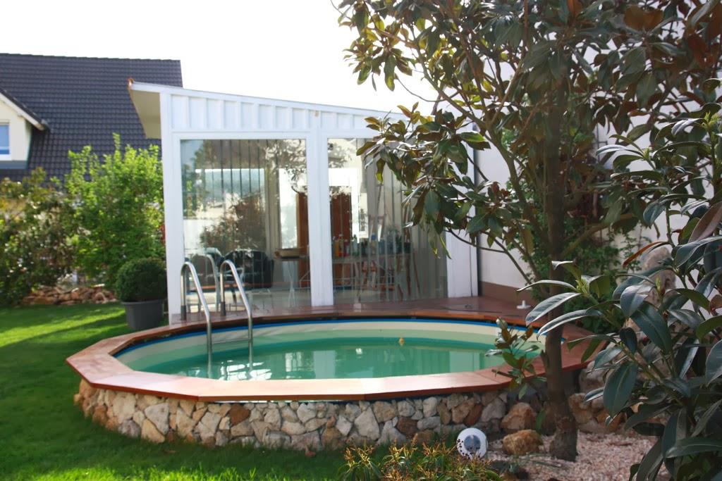 Kunstecht gartenhaus die 12 - Gartengestaltungsideen mit pool ...