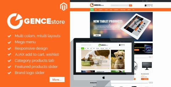 Best Multi Store Responsive Magento Theme