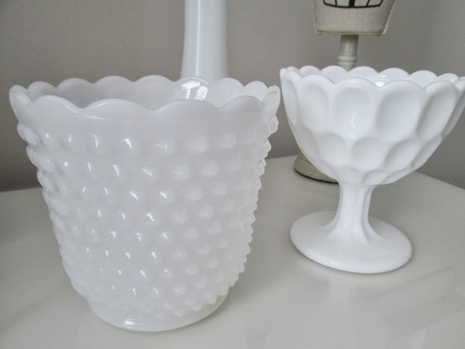 Milk glass thrift store finds