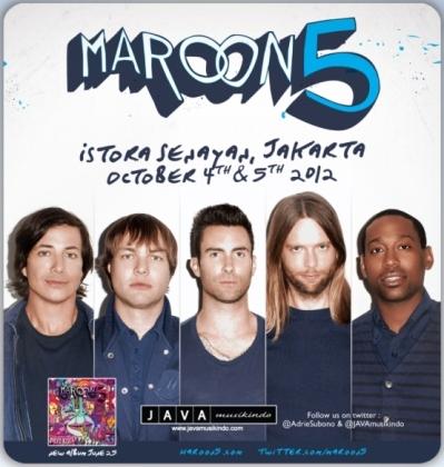Maroon 5 Akan Konser di Indonesia