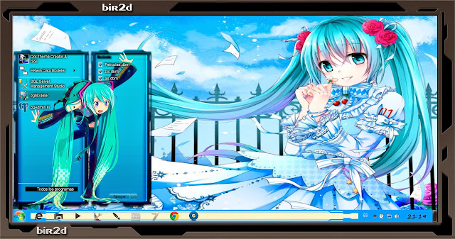 Hatsune Miku v3 [ Theme Windows 7 ] 2