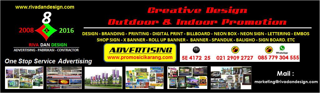Advertising : Neon Box, Huruf Timbul, Plang Nama