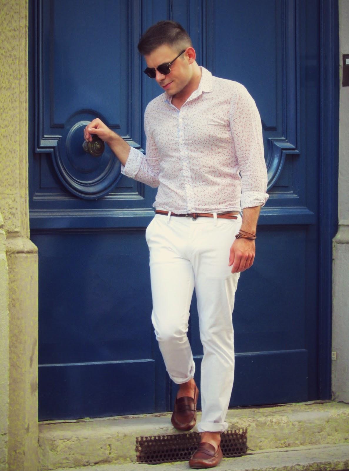 le lion dans la penderie blog mode homme lifestyle lyon paris pantalon blanc. Black Bedroom Furniture Sets. Home Design Ideas