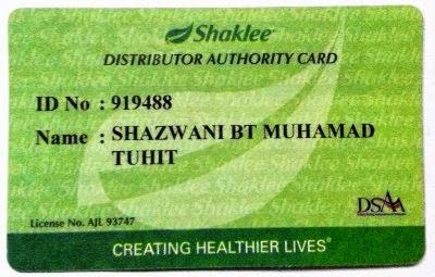 I'm Shaklee Independent Distributor!