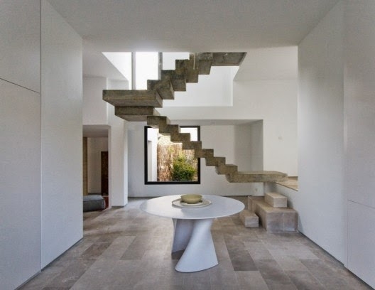 floating stairs designs by ÁBATON Architecture