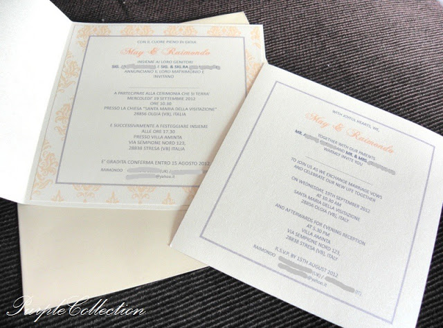 Thi White Orange Damask Wedding Invitation Card, Thi White, Thi, White, Orange, Damask, Wedding, Invitation, Card, Wedding Invitation Card, M&R
